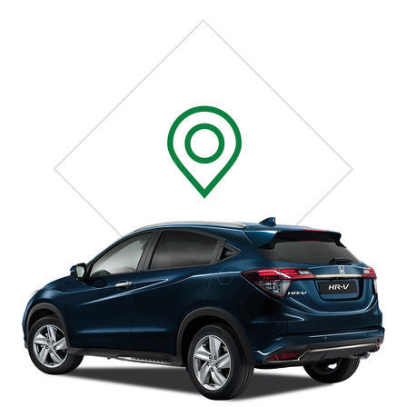 Illustration du concessionnaire du Honda HR-V.