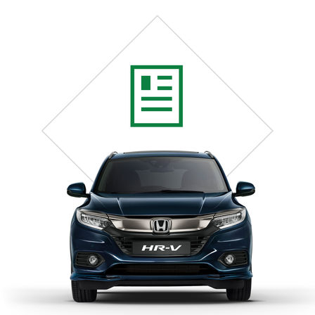 Illustration de la brochure du Honda HR-V.