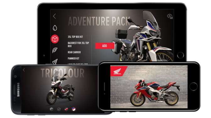 Images variées de l'application Honda